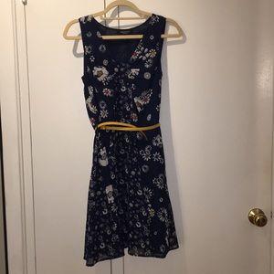 Jason Wu for Target Navy Floral Dress